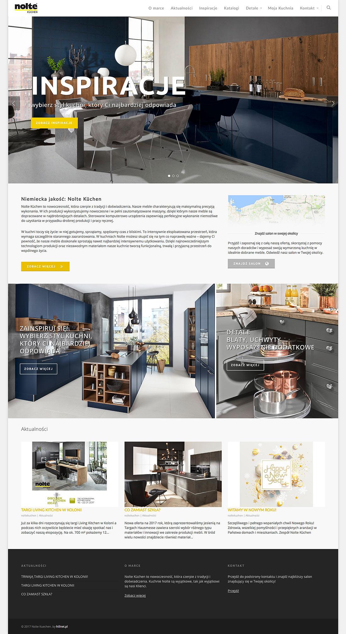 Nolte Kuechen projekt strony internetowej