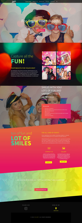 Photobooth for Smile - realizacja strony internetowej