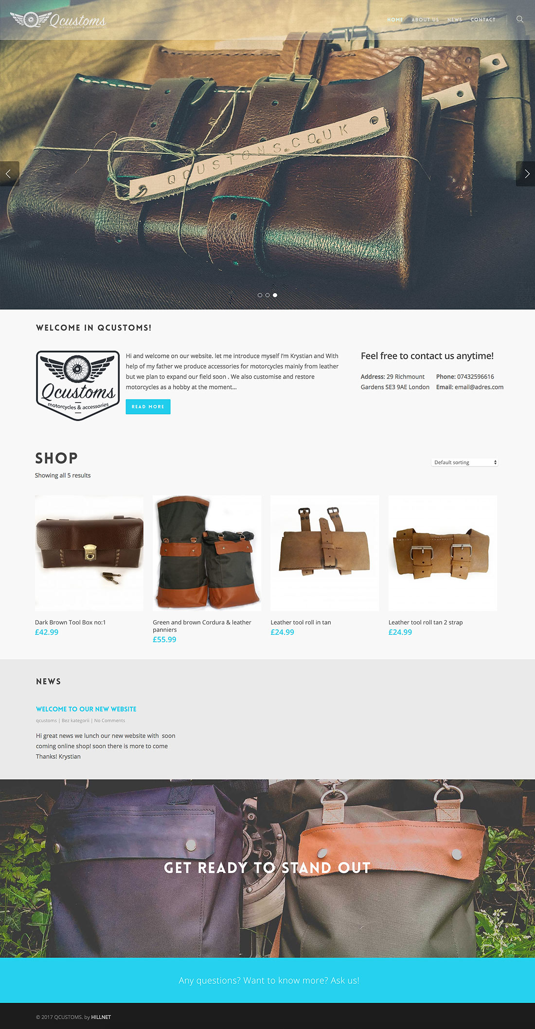 Qcustoms ecommerce Webpage Project